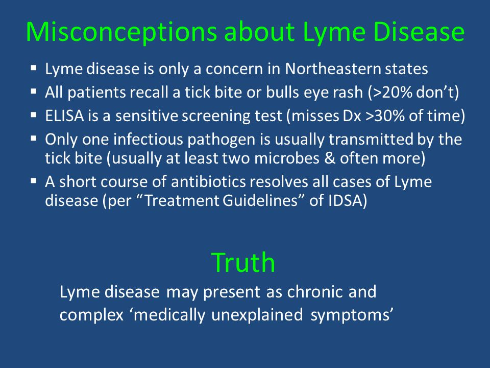 Misconceptions about Lyme Disease