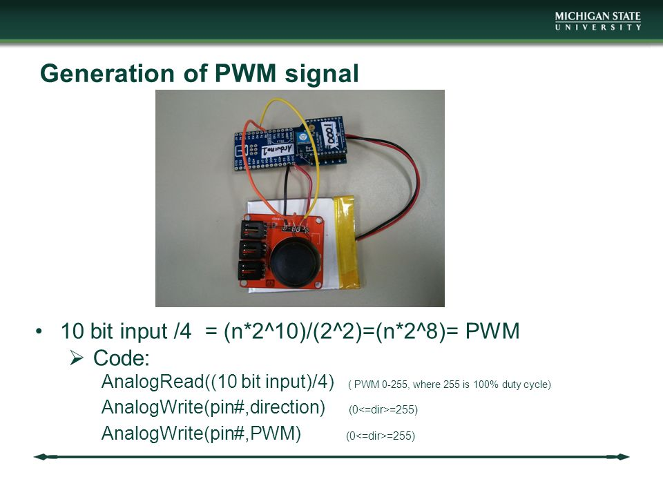 Generation of PWM signal