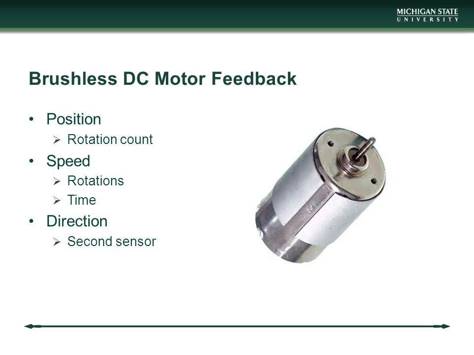 Brushless DC Motor Feedback