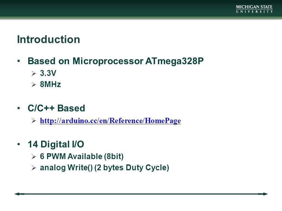 Introduction Based on Microprocessor ATmega328P C/C++ Based
