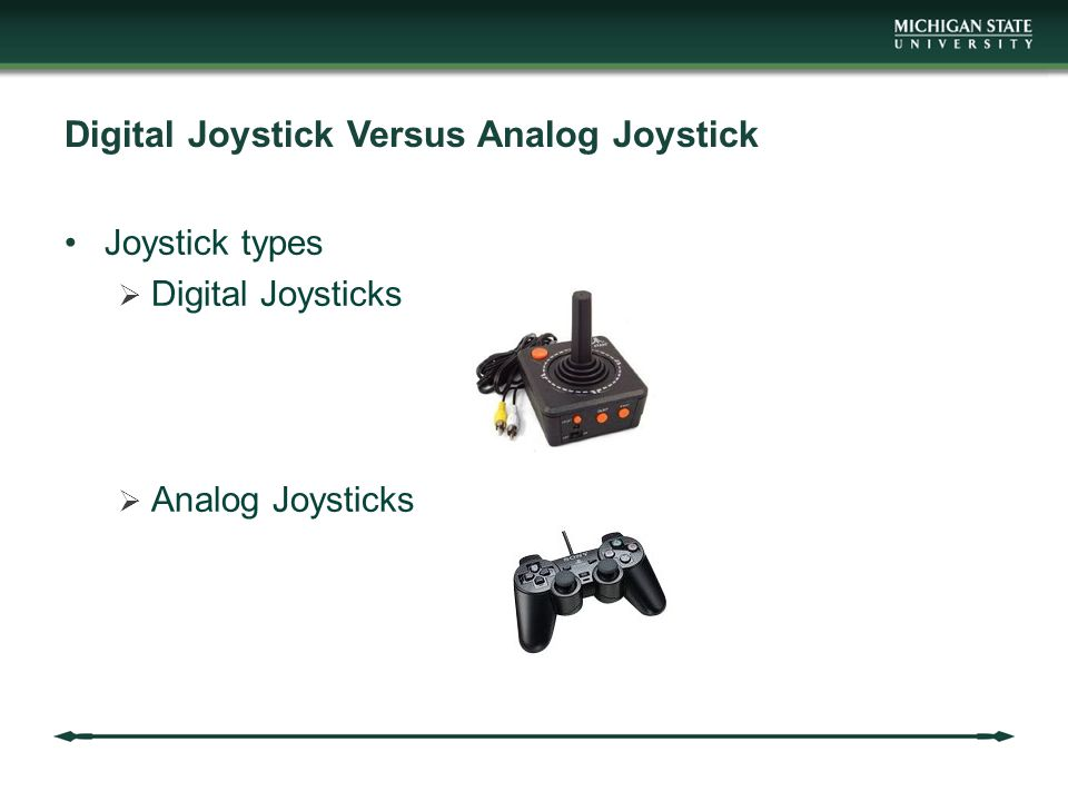 Digital Joystick Versus Analog Joystick