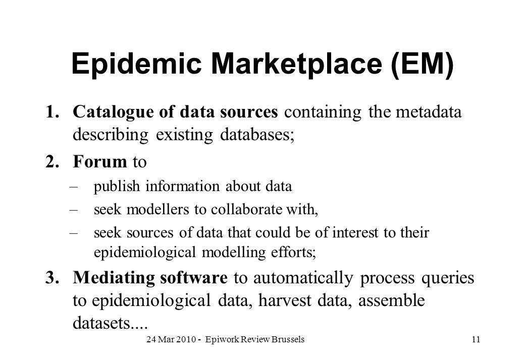 Epidemic Marketplace (EM)