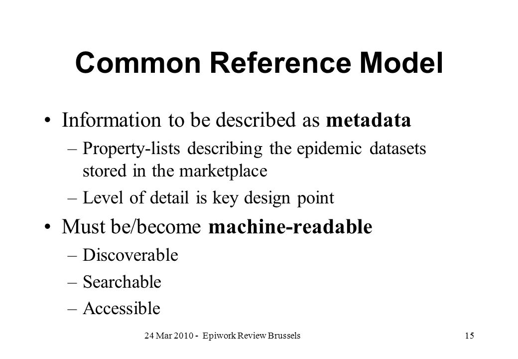 Common Reference Model