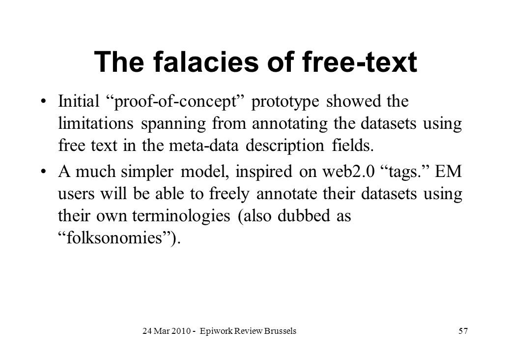 The falacies of free-text