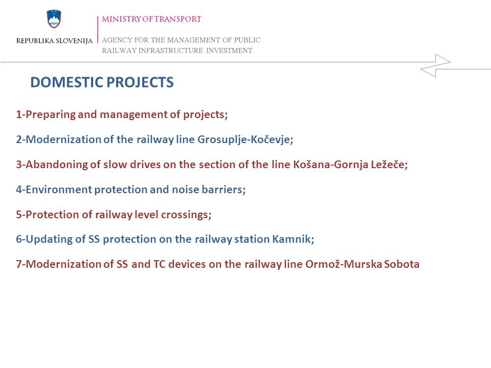 DOMESTIC PROJECTS 1-Preparing and management of projects;