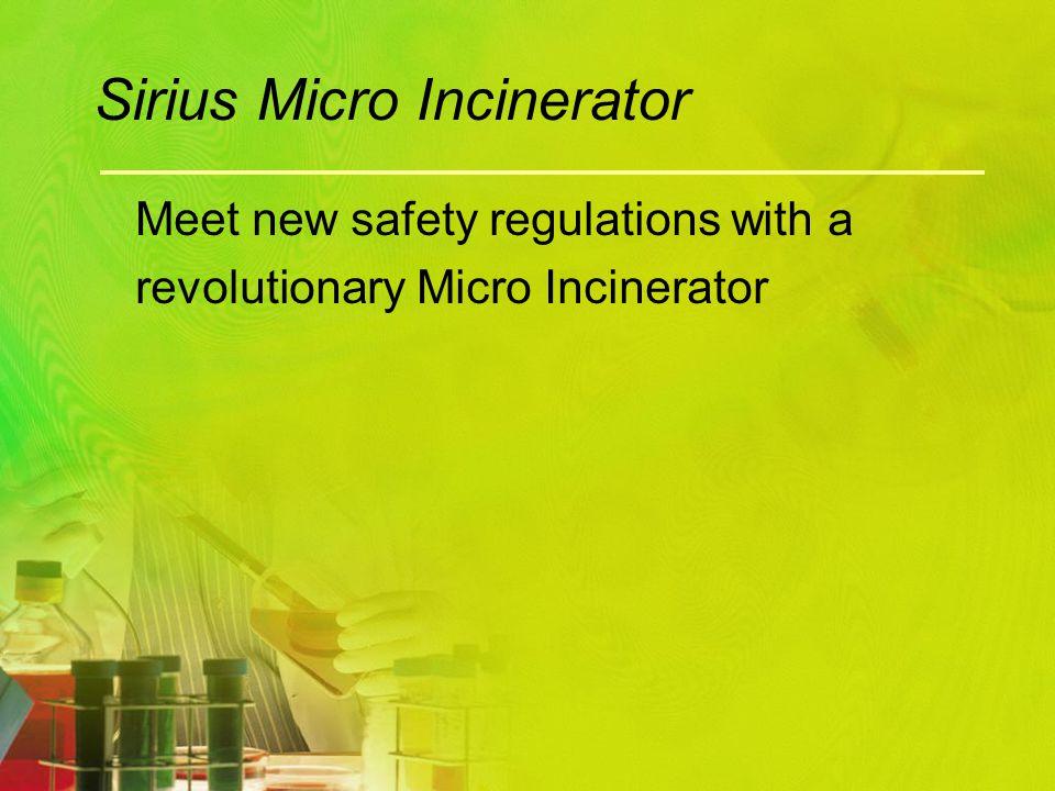 Sirius Micro Incinerator