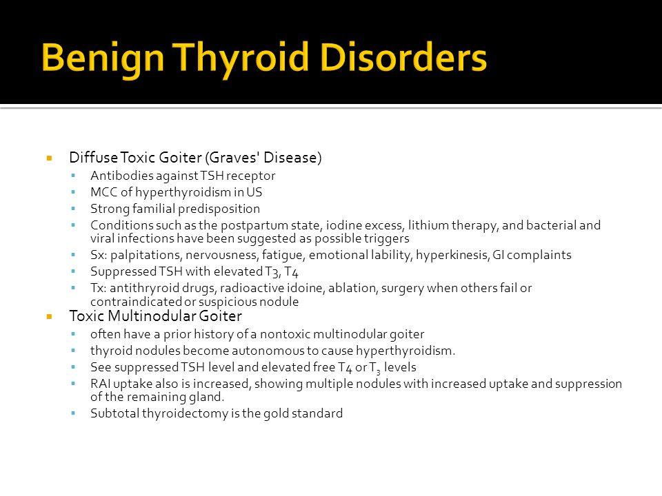 Benign Thyroid Disorders