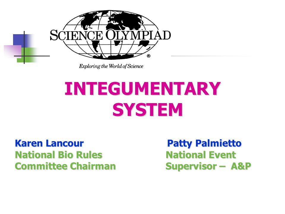 INTEGUMENTARY SYSTEM Karen Lancour Patty Palmietto