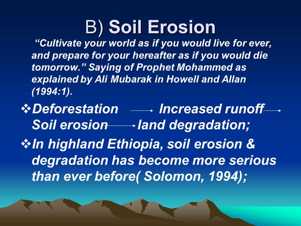 B) Soil Erosion