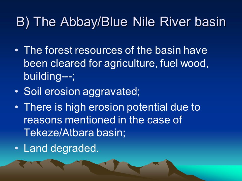 B) The Abbay/Blue Nile River basin
