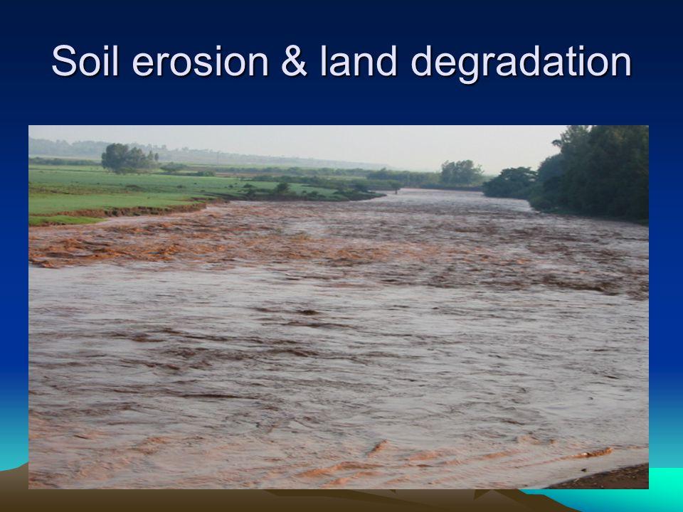 Soil erosion & land degradation