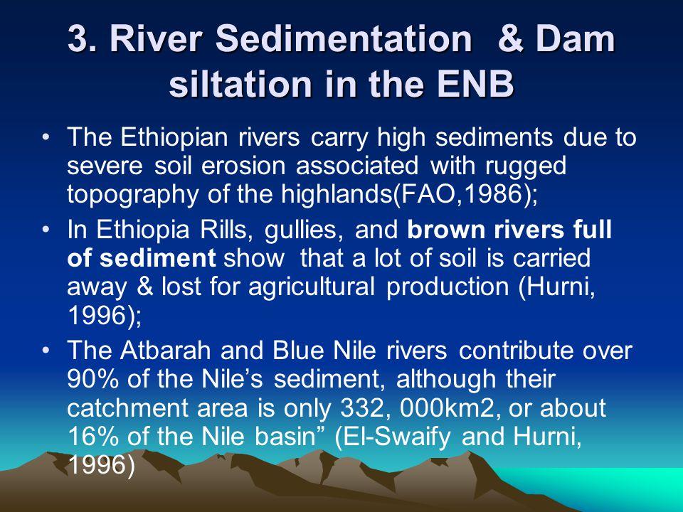 3. River Sedimentation & Dam siltation in the ENB