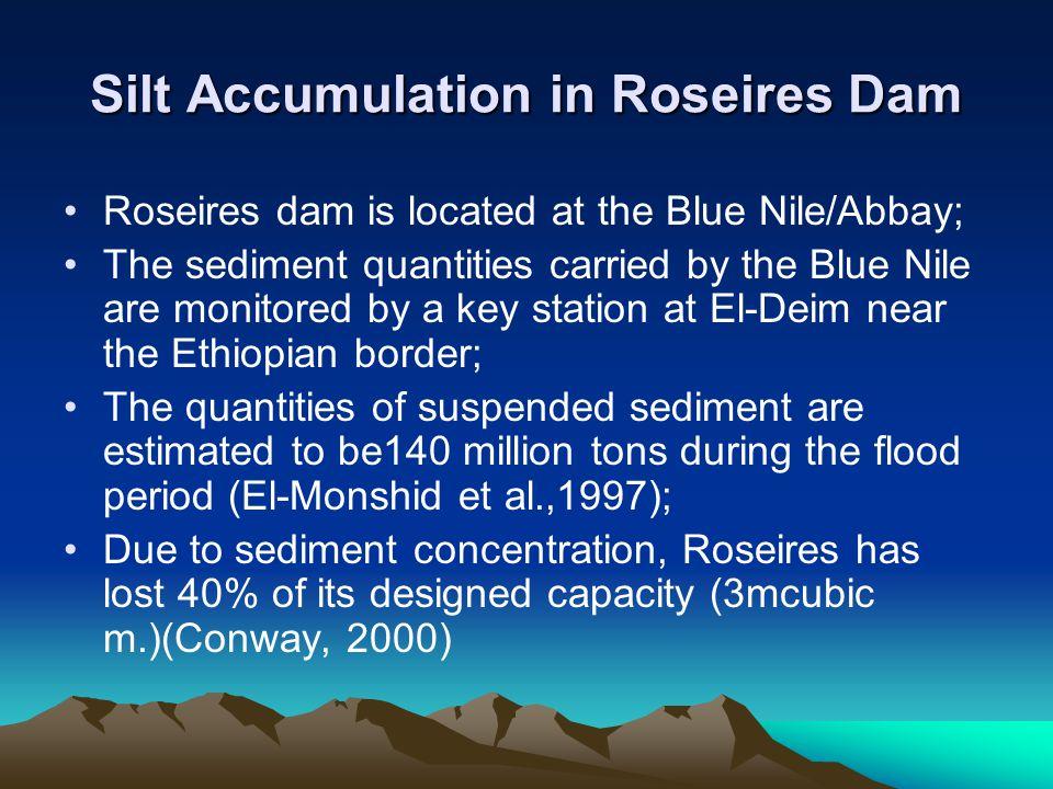 Silt Accumulation in Roseires Dam