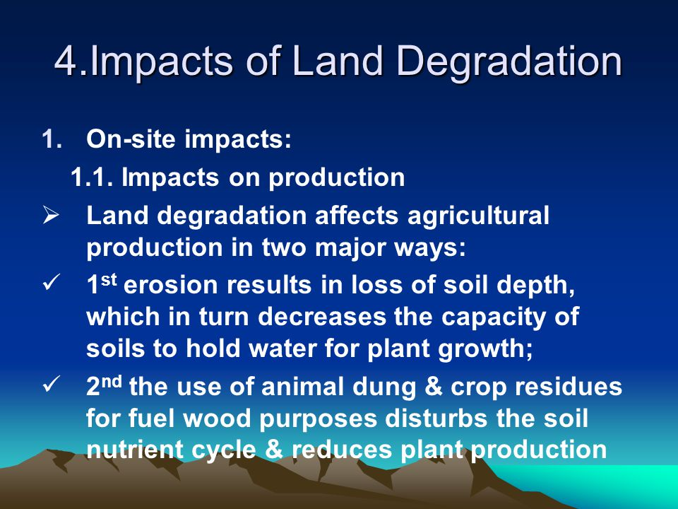 4.Impacts of Land Degradation