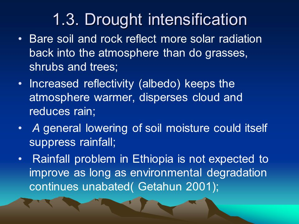1.3. Drought intensification