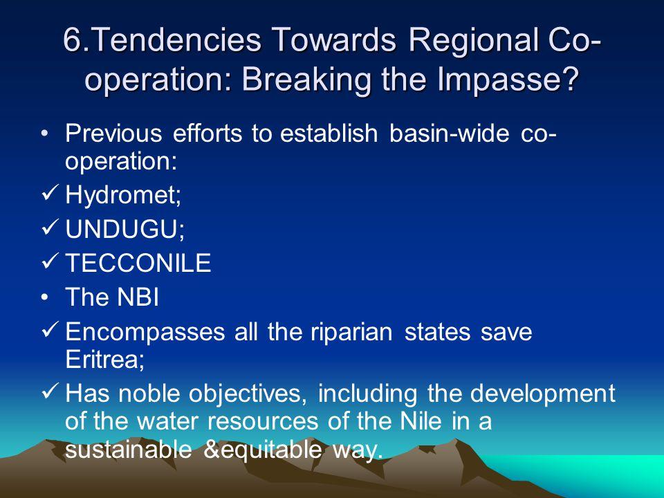 6.Tendencies Towards Regional Co-operation: Breaking the Impasse