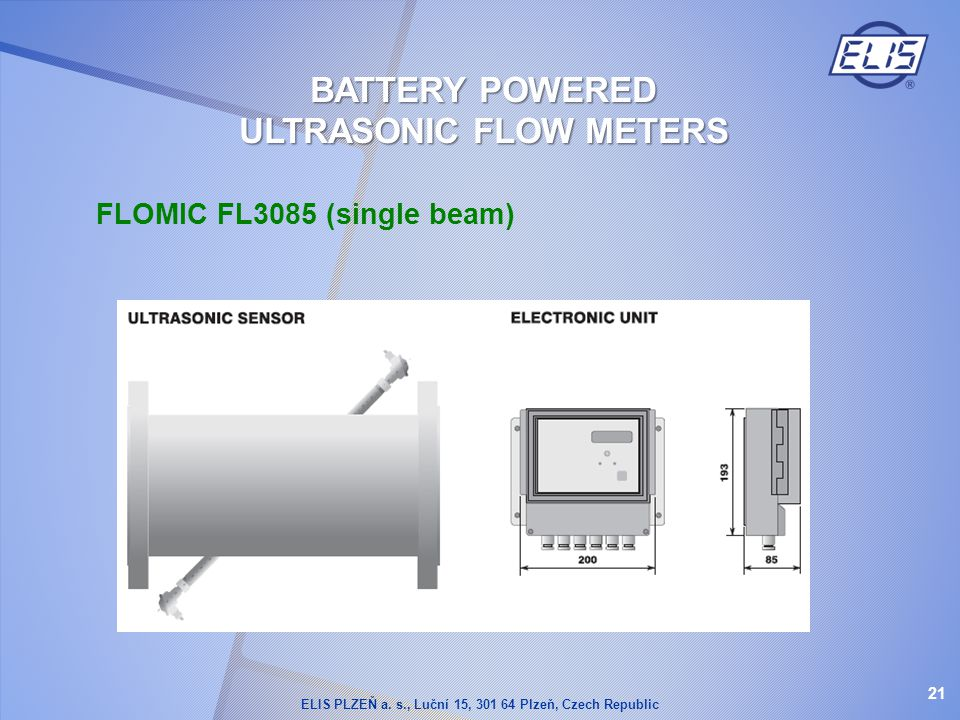 BATTERY POWERED ULTRASONIC FLOW METERS