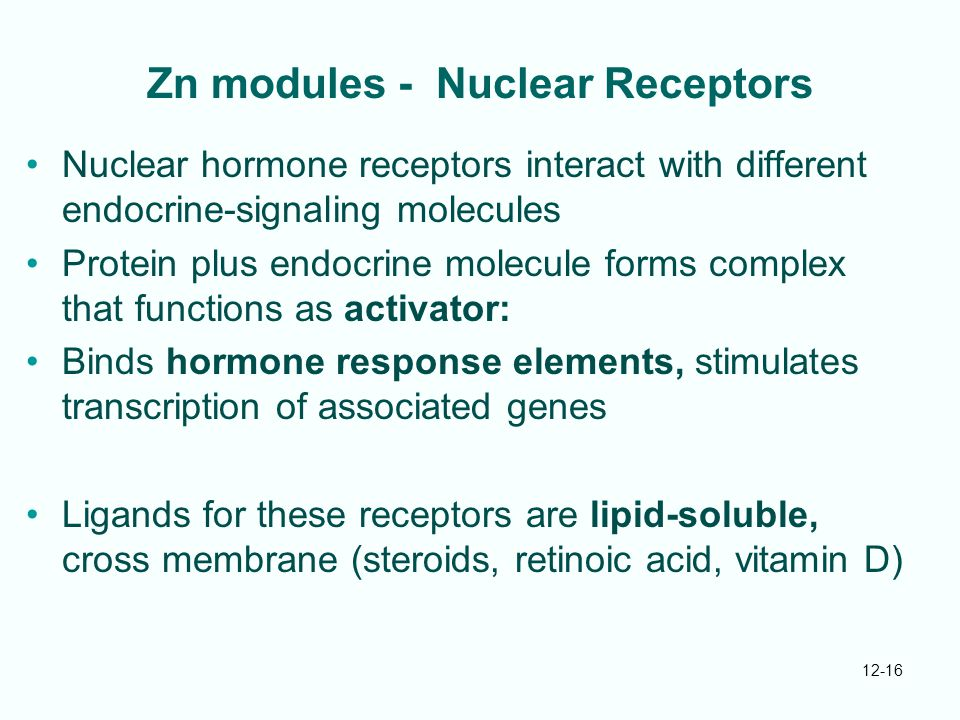 Zn modules - Nuclear Receptors