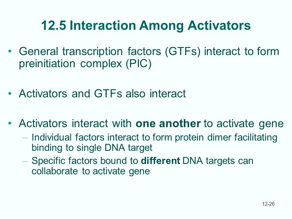 12.5 Interaction Among Activators