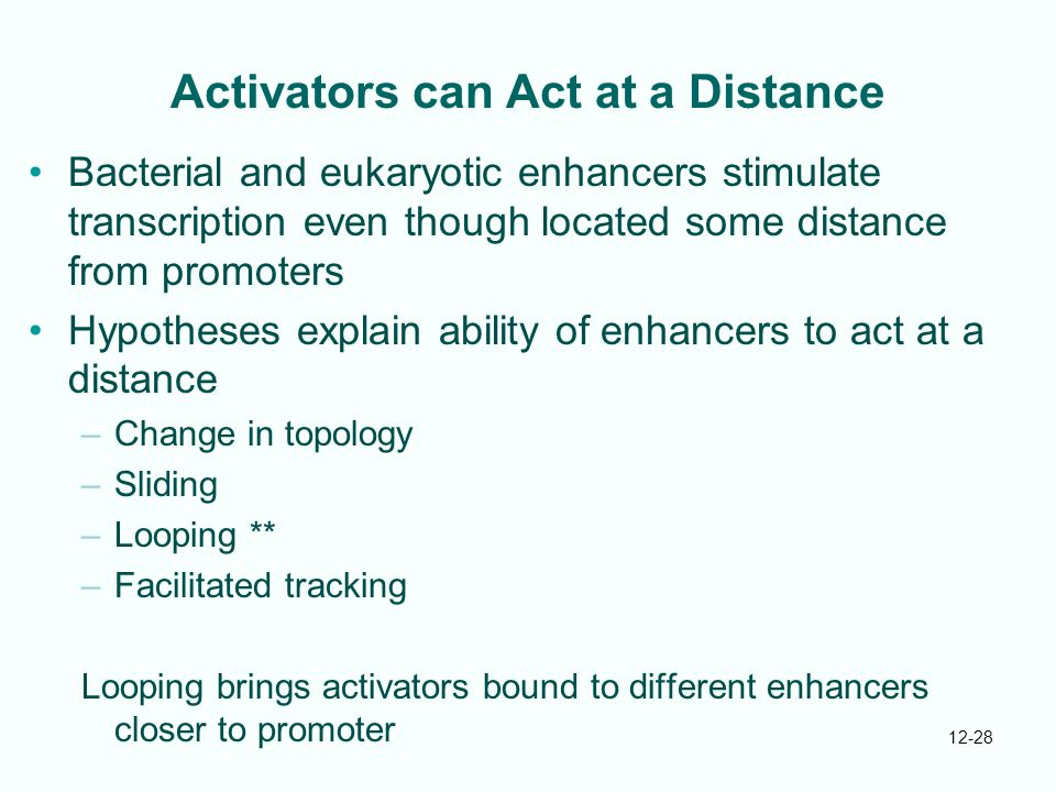 Activators can Act at a Distance