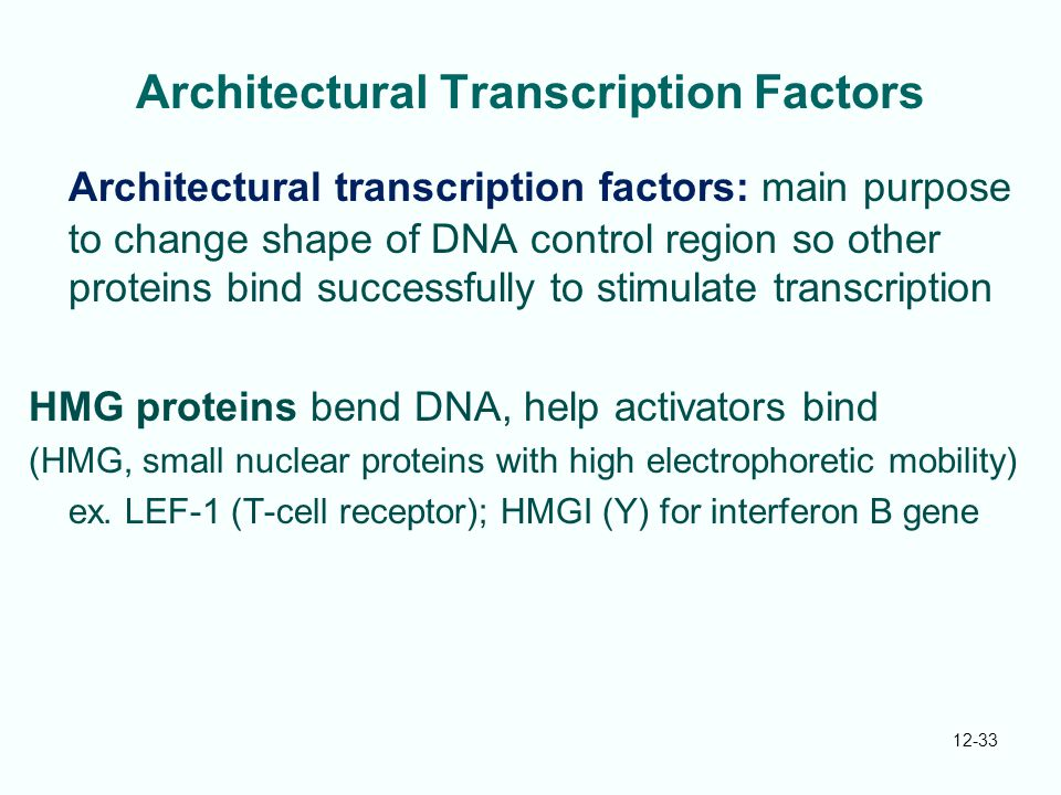 Architectural Transcription Factors