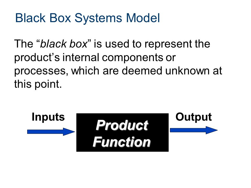 Black Box Systems Model