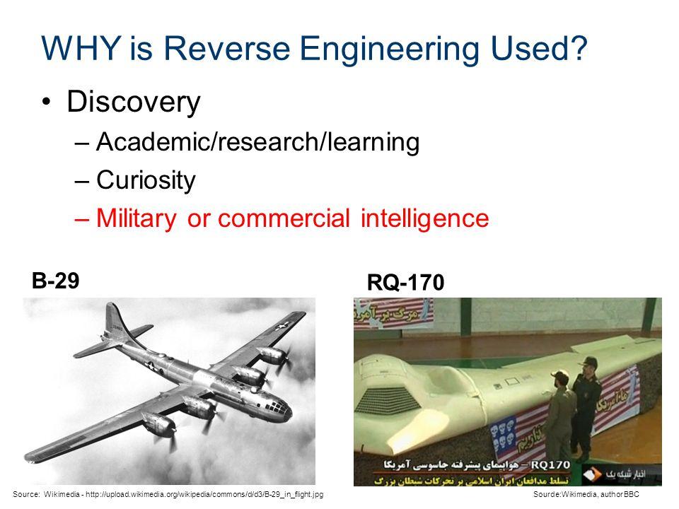 WHY is Reverse Engineering Used