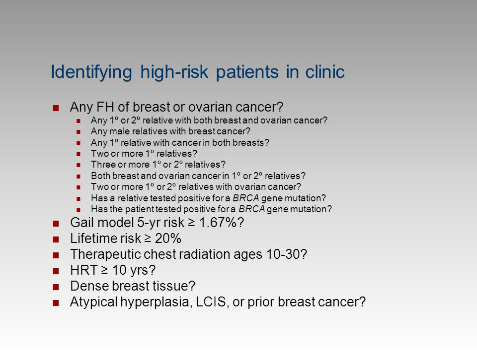 Identifying high-risk patients in clinic
