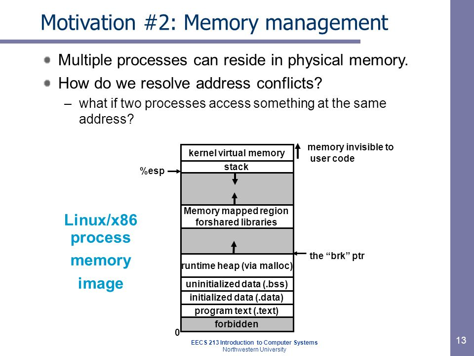 Motivation #2: Memory management