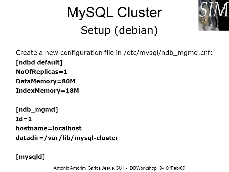 MySQL Cluster Setup (debian)