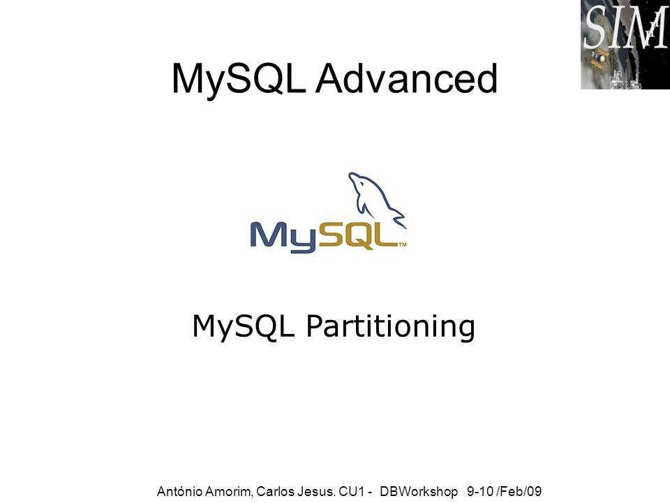 MySQL Advanced MySQL Partitioning