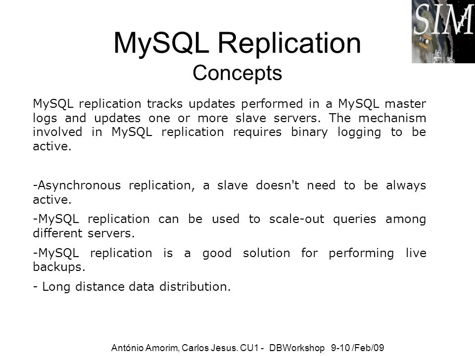 MySQL Replication Concepts