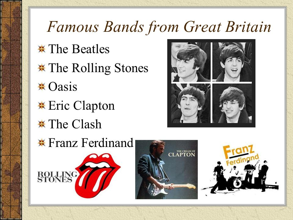 Famous Bands from Great Britain