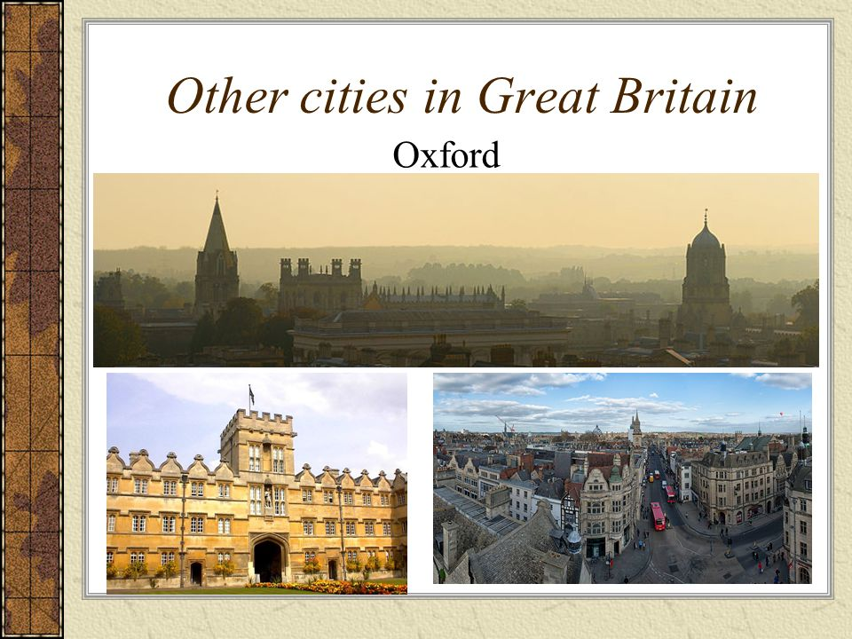 Other cities in Great Britain