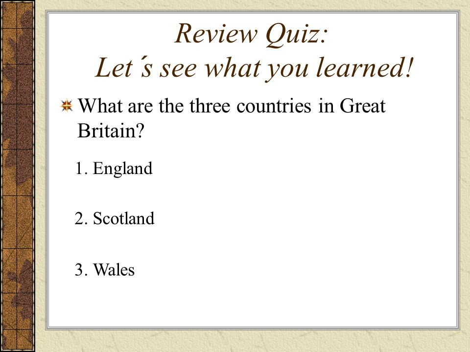 Review Quiz: Let´s see what you learned!