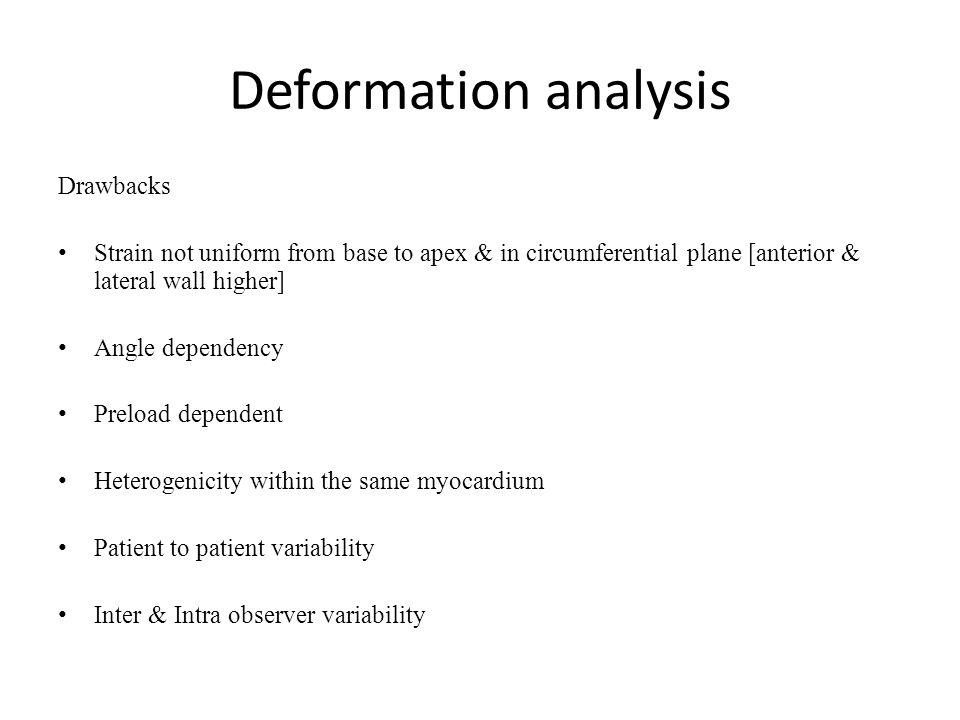 Deformation analysis Drawbacks