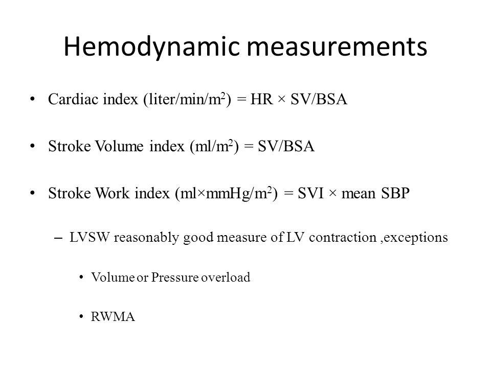 Hemodynamic measurements