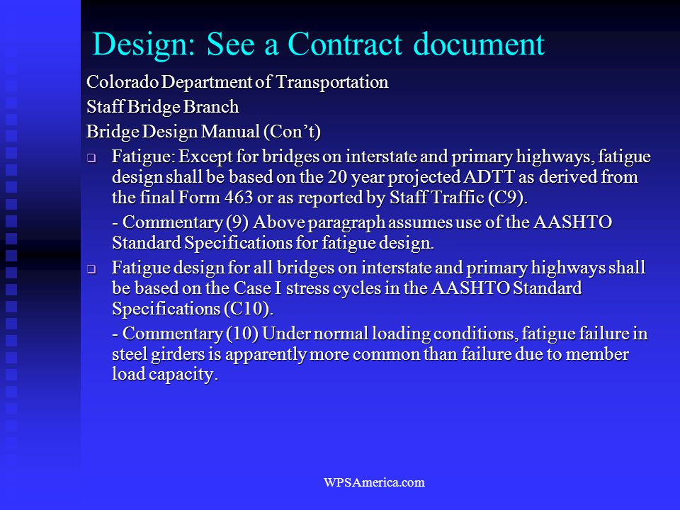 Design: See a Contract document