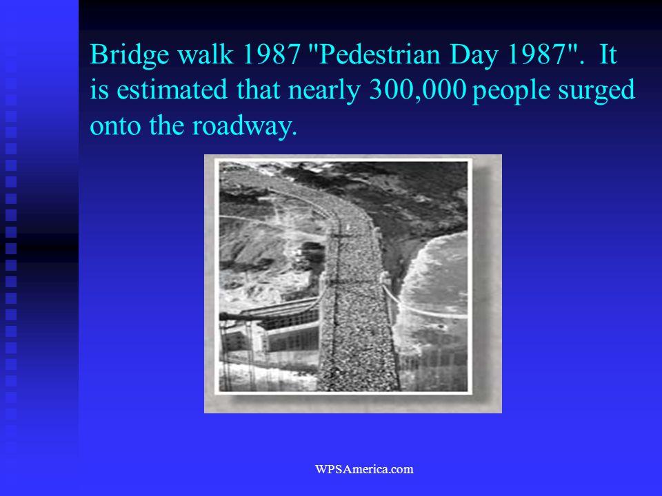 Bridge walk 1987 Pedestrian Day 1987