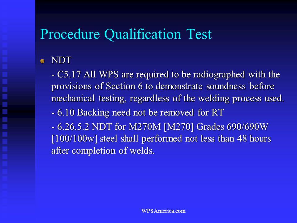 Procedure Qualification Test