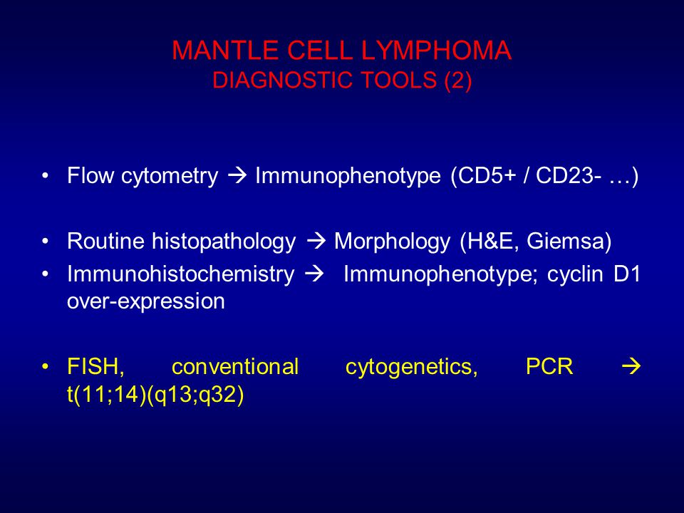 MANTLE CELL LYMPHOMA DIAGNOSTIC TOOLS (2)