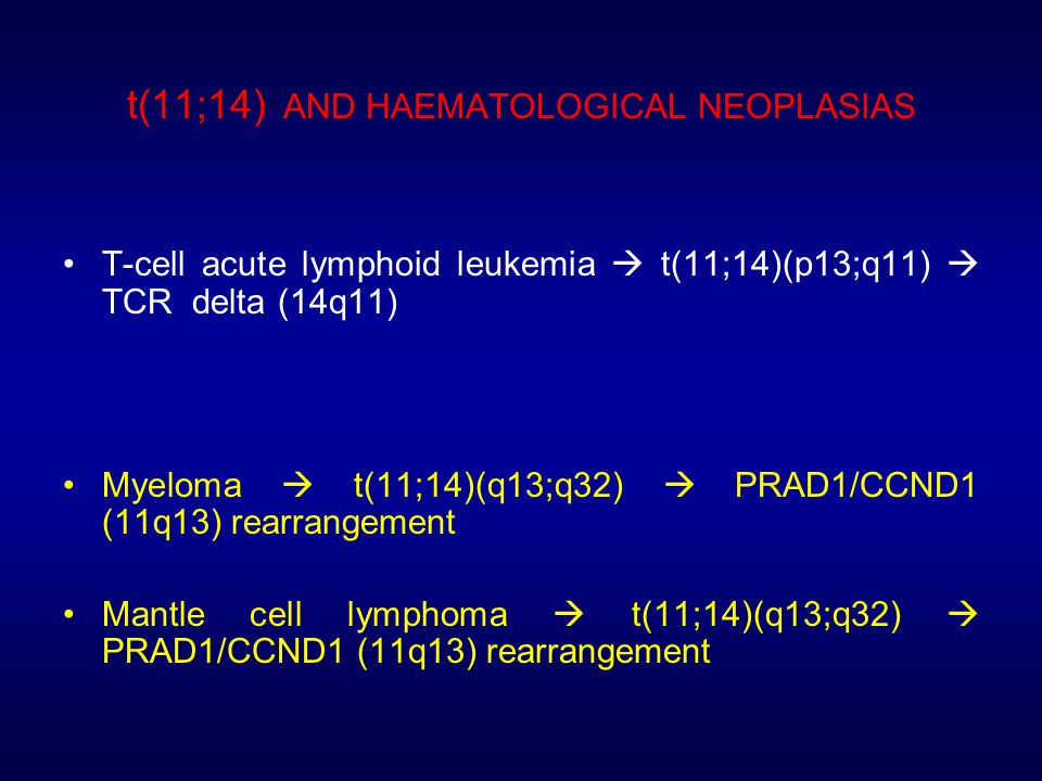 t(11;14) AND HAEMATOLOGICAL NEOPLASIAS