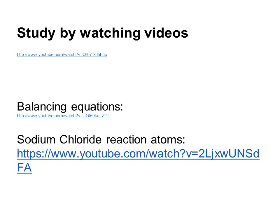 Study by watching videos