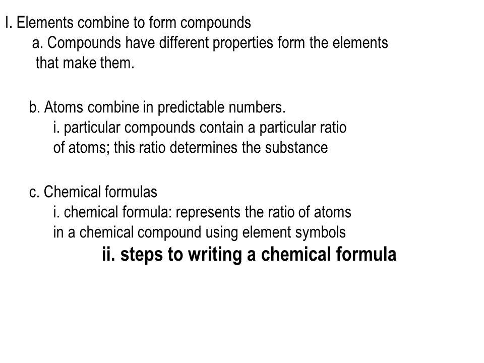ii. steps to writing a chemical formula