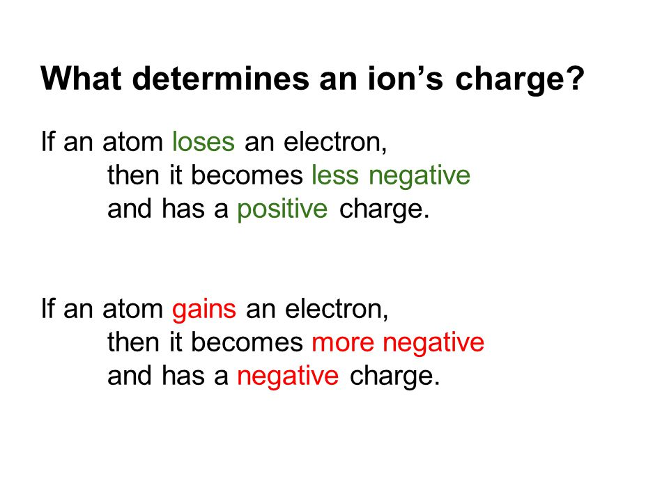 What determines an ion's charge