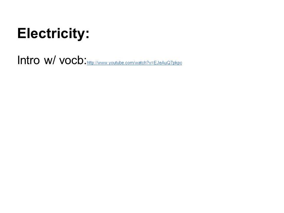 Electricity: Intro w/ vocb:http://www.youtube.com/watch v=EJeAuQ7pkpc