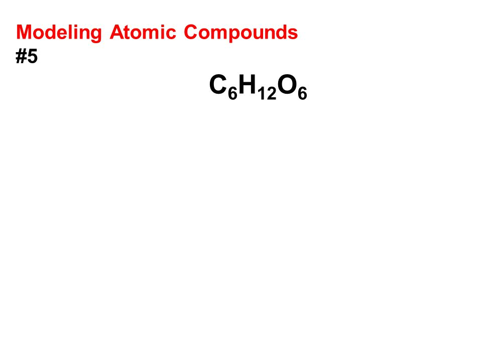 Modeling Atomic Compounds