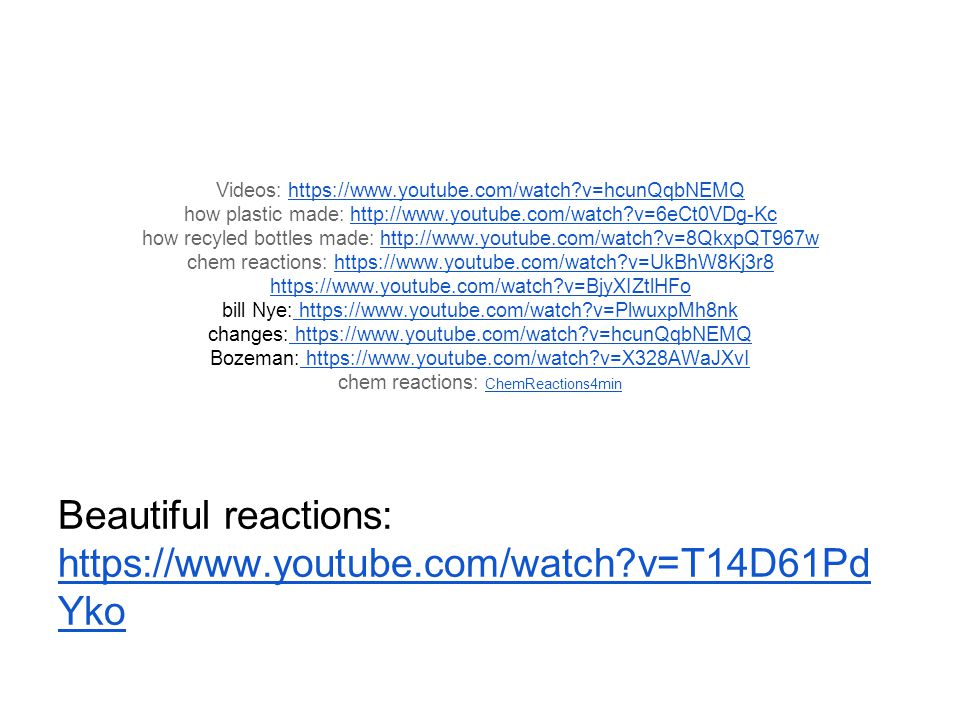 Beautiful reactions: https://www.youtube.com/watch v=T14D61PdYko