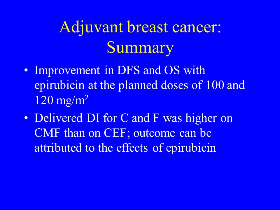 Adjuvant breast cancer: Summary