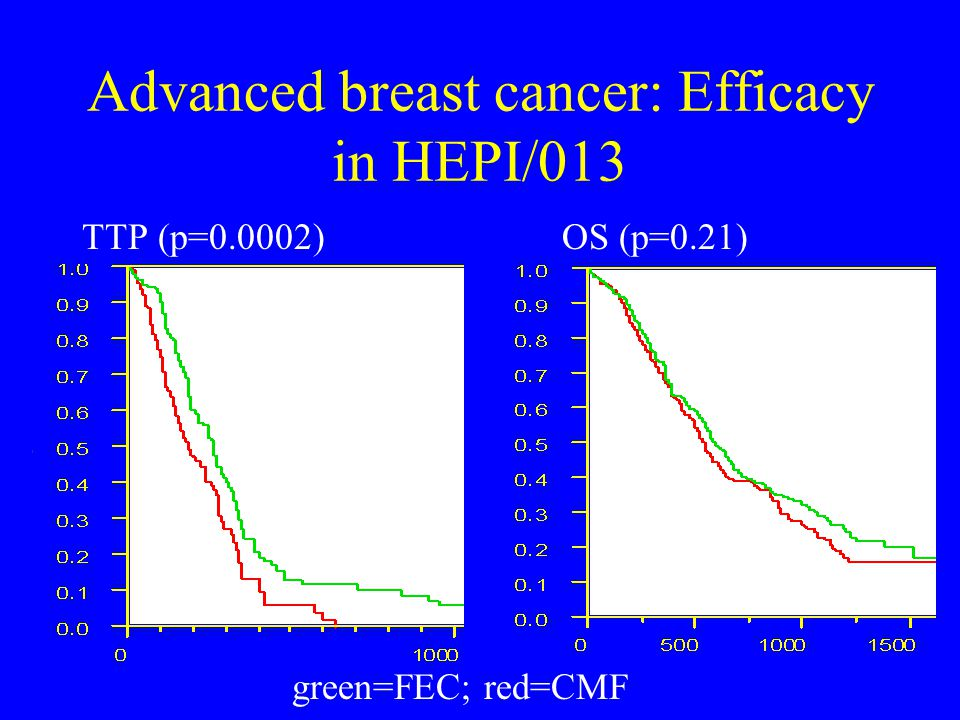 Advanced breast cancer: Efficacy in HEPI/013
